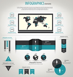 retro infographics vector image