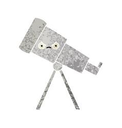 Retro style cartoon telescope vector