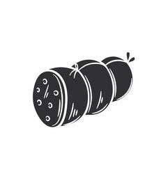 Sausage glyph icon vector