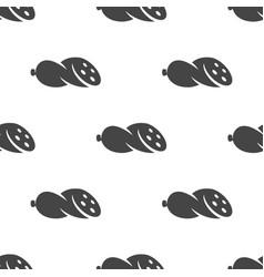 Sausage seamless pattern vector