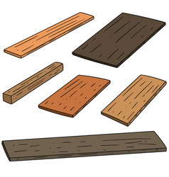 set of plywood vector image
