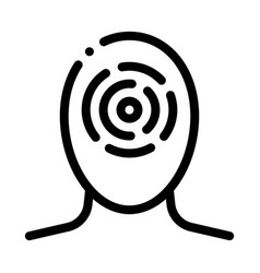 sinusitis brow bone and cheekbones head vector image