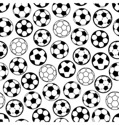 Soccer game seamless pattern with football balls vector