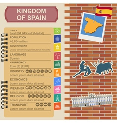 Spain infographics statistical data sights vector
