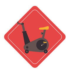 Spinning bike gym icon vector