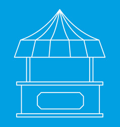 Street shopping counter with tent icon vector