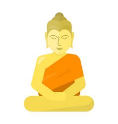 thai god buddha isolated on white vector image