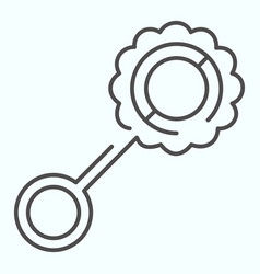 Toy beanbag thin line icon child rattle vector