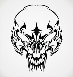 Tribal Scary Skulls vector
