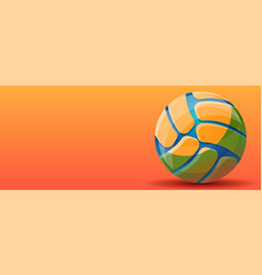 volleyball sport concept banner cartoon style vector image