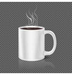 White steam over coffee or tea cup vector