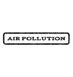 air pollution watermark stamp vector image
