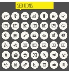 Big SEO icon set vector image vector image