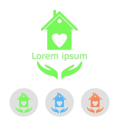 Concept of a cozy home with sample text and icons vector image