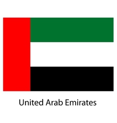 Flag of the country united arab emirates vector image