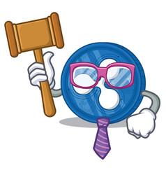 Judge ripple coin character cartoon vector