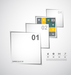 Layers background infographic vector image vector image