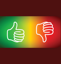 up or down thumbs vector image vector image