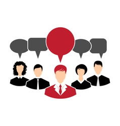 concept of leadership dialog speech bubbles - vector image vector image
