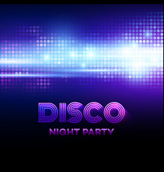 Disco background with discoball vector image