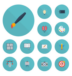 flat icons bulb science scheme and other vector image vector image