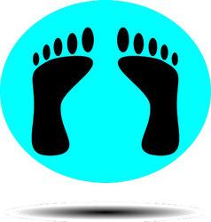Foot print icon vector