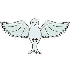 Isolated Dove design vector image