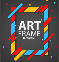 modern hipsters frame for text dynamic geometric vector image vector image
