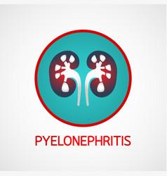 pyelonephritis logo icon vector image vector image