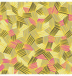 seamless pattern with hand drawn lines Traditional vector image vector image
