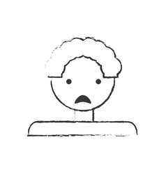 sketch father man sad image vector image