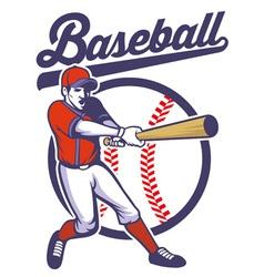 baseball player hitting the ball vector image