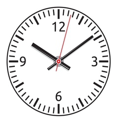clock face - easy change time vector image vector image