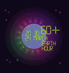 earth hour concept vector image