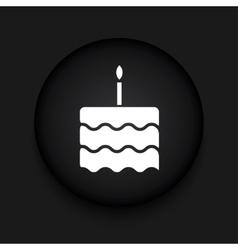 modern cake black circle icon vector image