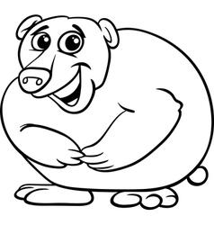 bear animal cartoon coloring book vector image