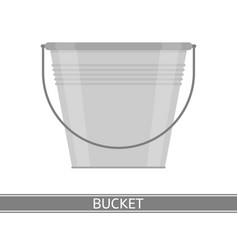 metal bucket isolated vector image vector image
