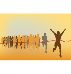 race winner vector image