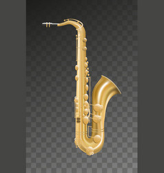saxophone music instrument on transparent vector image vector image