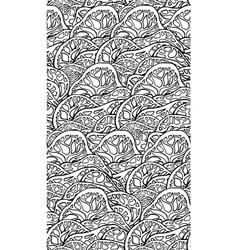 seamless black and white texture with doodle vector image vector image