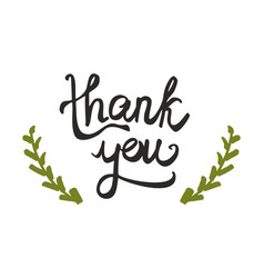 thank you handwritten sign isolated on white vector image