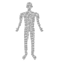 100 text human figure vector