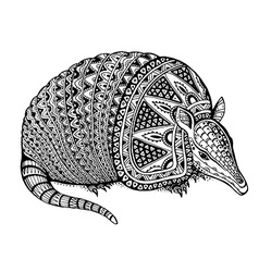 a totem animal - armadillo - in graphic b vector image