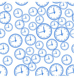 abstract clock pattern vector image