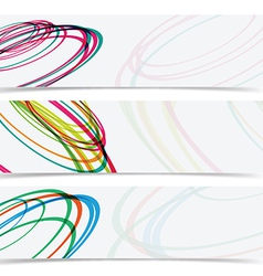 abstract curve circle banner header background vector image
