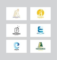 Alphabet logo icon letter set vector image