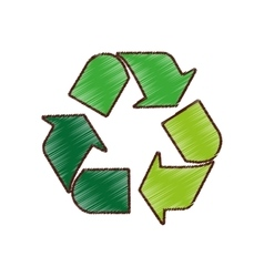 Arrows recycle symbol isolated icon vector
