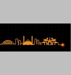 Astana light streak skyline vector