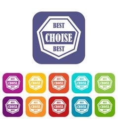 Best choise label icons set vector