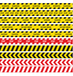 Black and yellow police stripe with red and white vector